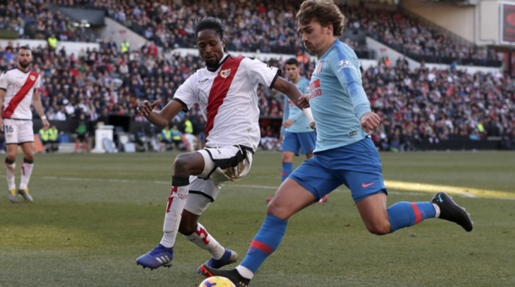 Гризман донесе три точки за Атлетико срещу Райо (видео)