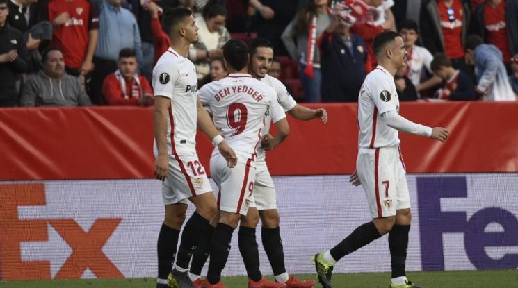 Севиля е първият 1/8-финалист в Лига Европа (видео)