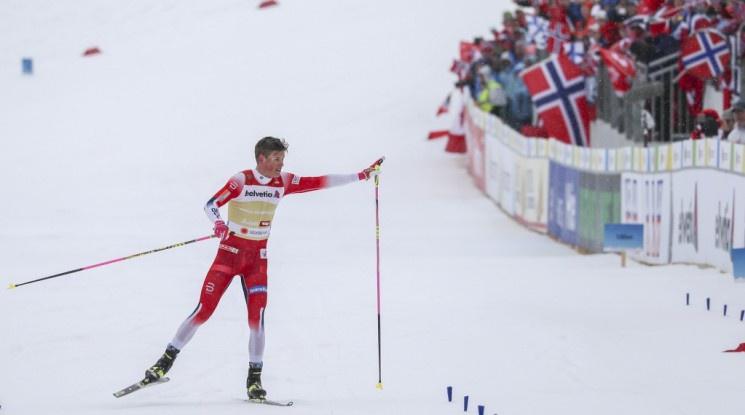 Клаебо изведе Норвегия до 10-о поредно злато на Световно в мъжката щафета