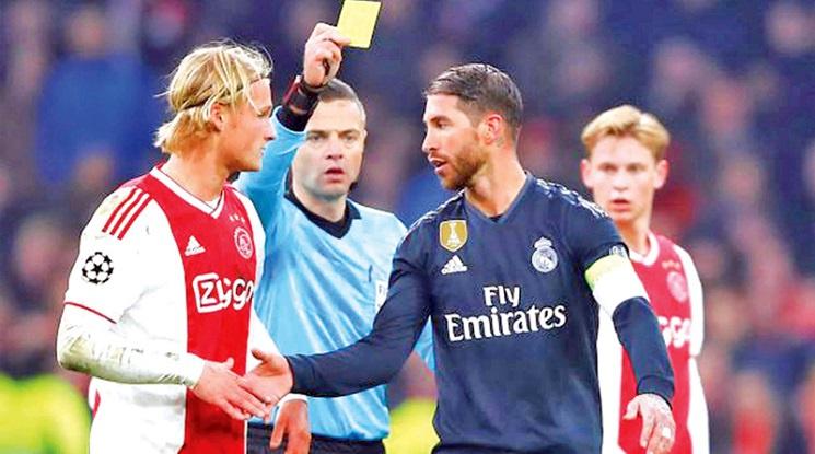 Рамос: Жълтият картон срещу Аякс беше грешка