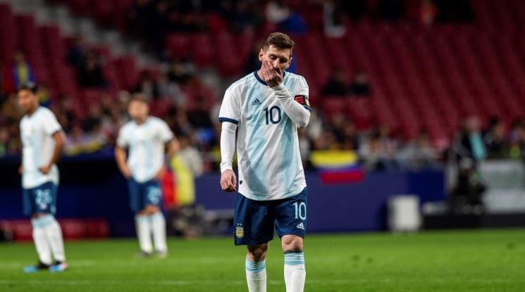 Меси се контузи, а Аржентина отново разочарова (видео)