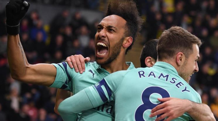 Вратарска грешка върна Арсенал в топ 4 (видео)