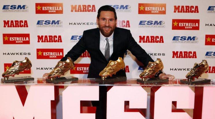 Меси спечели Златната обувка за рекорден шести път