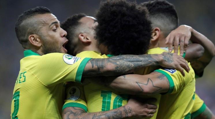 """Бразилия разгроми Перу и спечели група """"А"""" на Копа Америка (видео)"""