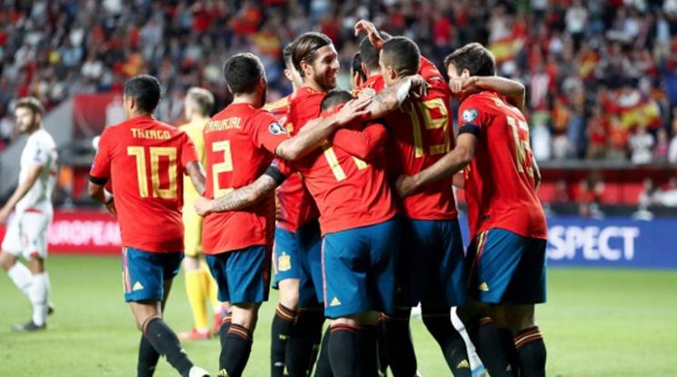 Испания с категоричен успех срещу Фарьорските острови