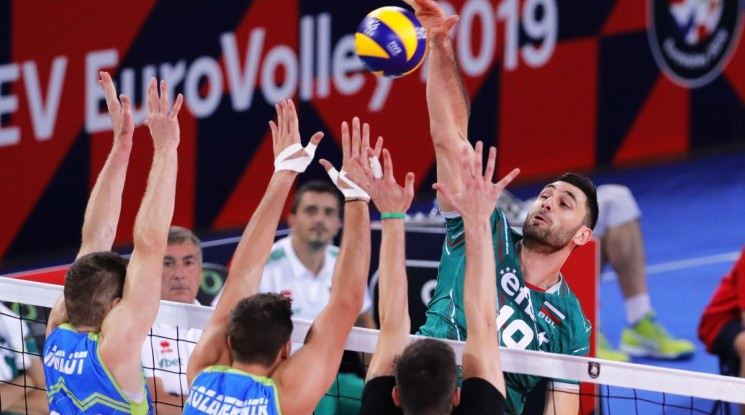 Словения удари България за първи път и е на 1/4-финал на Евроволей 2019