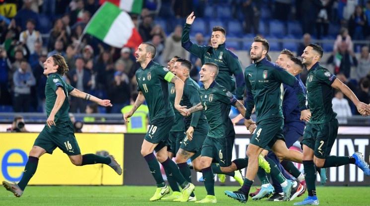 Италия си осигури участие на Евро 2020 (видео)