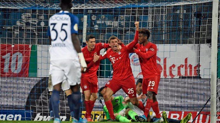 С много късмет Байерн продължава напред за Купата на Германия (видео)
