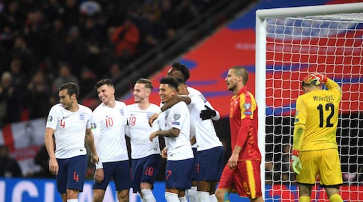 Англия вкара седем безответни на Черна гора (видео)