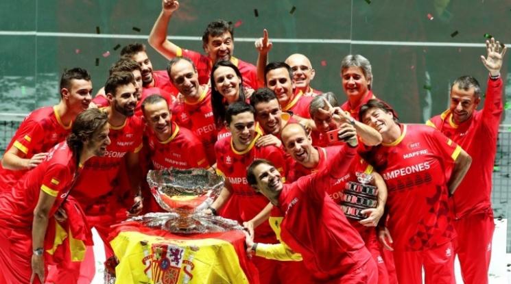 Испания за шести път завоюва Купа Дейвис