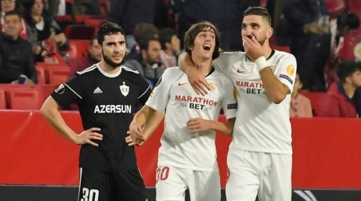 Пет от пет за Севиля в Лига Европа (видео)