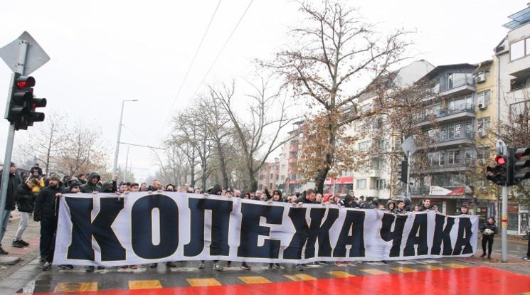 """Протест на """"бултрасите"""" блокира центъра на Пловдив"""