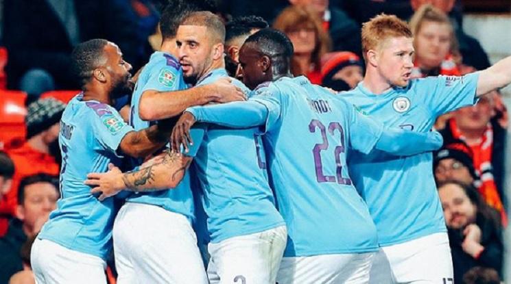 """Сити взе първия 1/2-финал срещу Юнайтед на """"Олд Трафорд"""" (видео)"""