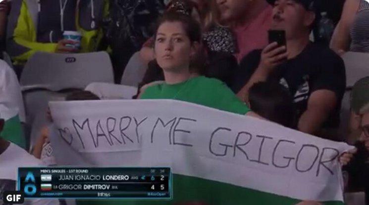 Предложиха брак на Григор Димитров