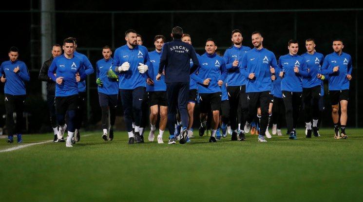 Левски с първа тренировка в Алания (видео)