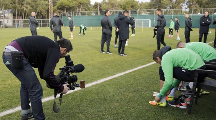 УЕФА снима филм за Лудогорец