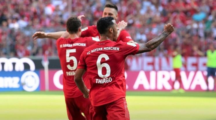 Байерн остана на върха в Бундеслигата след дербито с Лайпциг (видео)