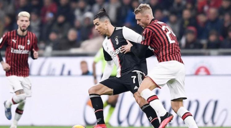 Роналдо спаси Юве от загуба срещу Милан с гол в края (видео)