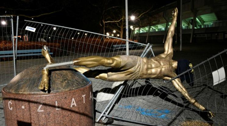 Местят статуята на Златан