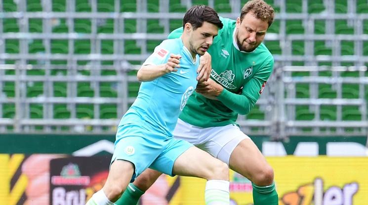 Волфсбург удари Вердер с гол в края (видео)