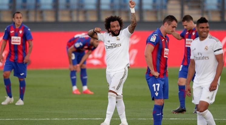 Реал Мадрид се разправи с Ейбар за едно полувреме (видео)