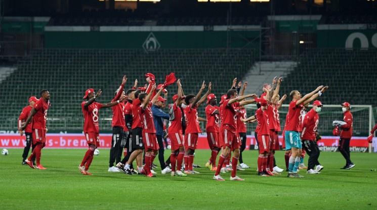 Байерн Мюнхен стана шампион на Германия за осми пореден път (видео)