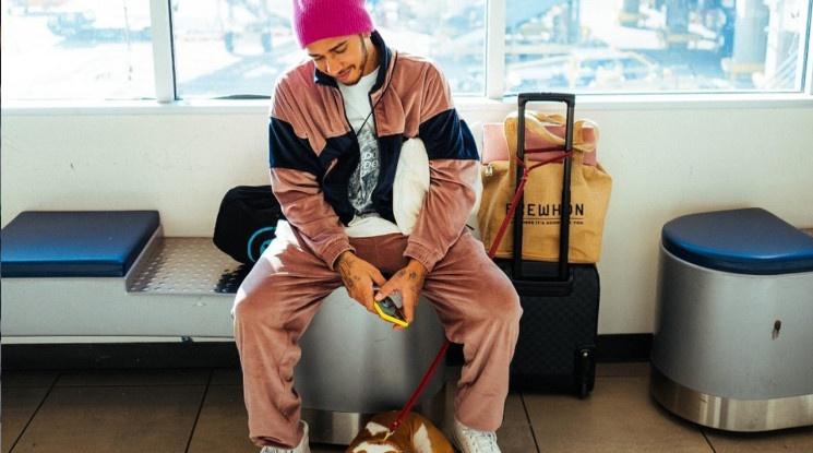 Люис Хамилтън тъгува след смъртта на кучето му