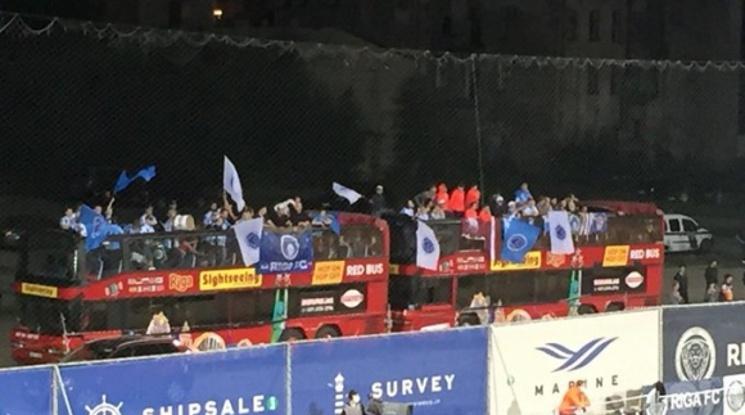 """Феновете на Рига """"извозиха"""" УЕФА и забраните им за посещение на мачове"""