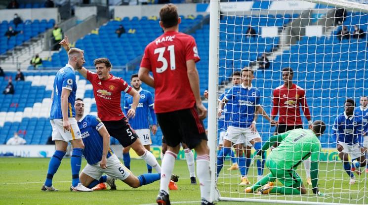 Ман Юнайтед с инфарктен обрат срещу Брайтън (видео)