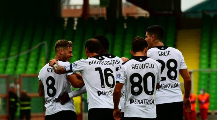 Андрей Гълъбинов вкара първия в историята гол за Специя в Серия А (видео)