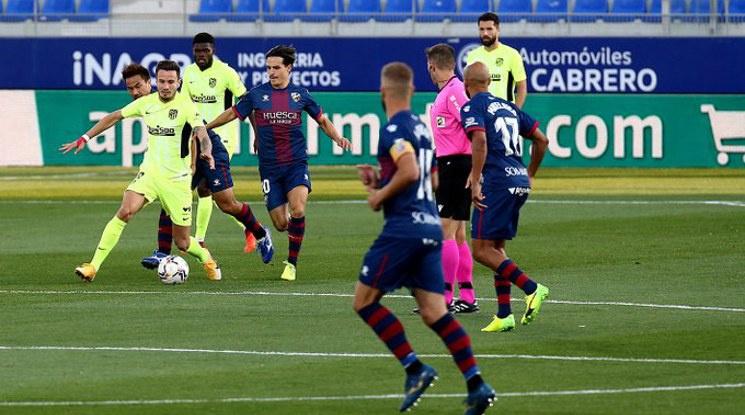 Жестока скука в мача Уеска - Атлетико Мадрид (видео)
