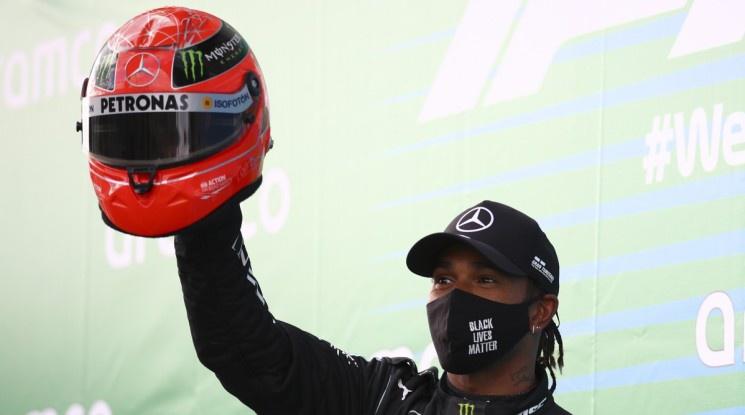 Хамилтън изравни рекорда на Шумахер за победи във Формула 1