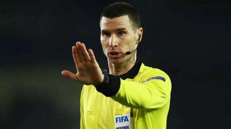 Кабаков отново ще съдийства мач от Шампионската лига