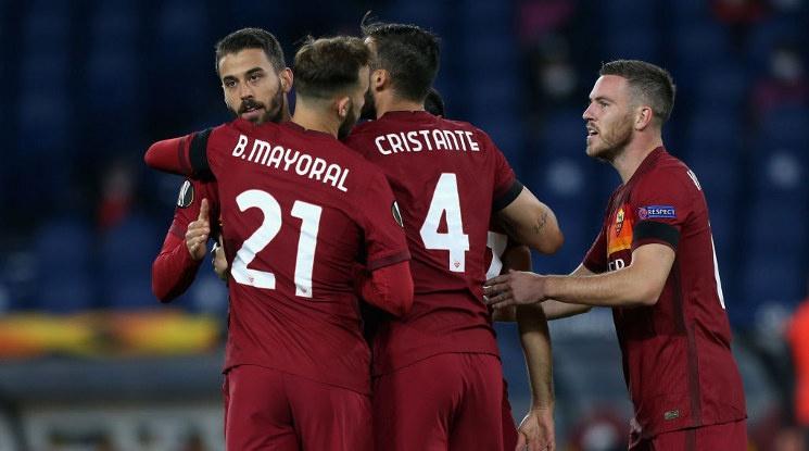 """Рома вкара пет безответни гола на Клуж и оглави група """"А"""" (видео)"""