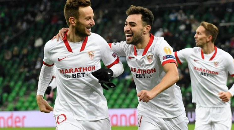 Севиля победи Краснодар с гол в последната минута (видео)