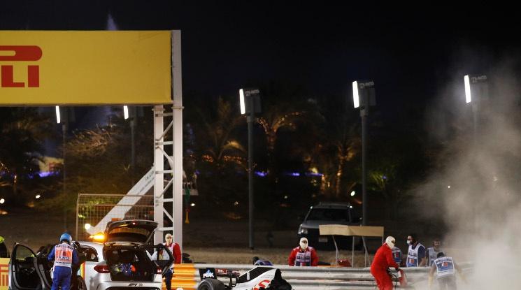Жестока катастрофа на Грожан прекъсна ГП на Бахрейн (видео)