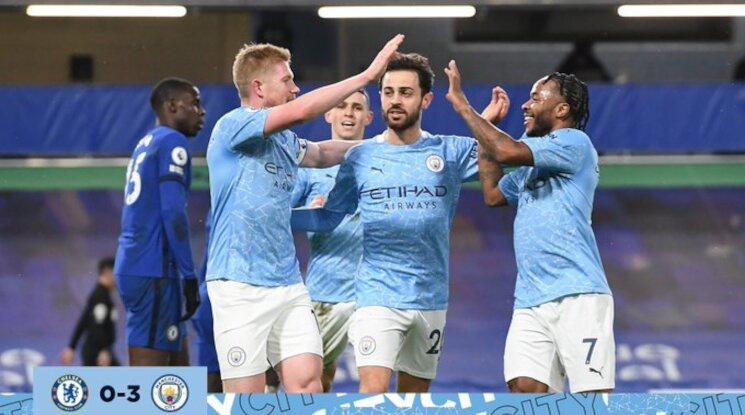 Сити с категорична победа в дербито с Челси (видео)