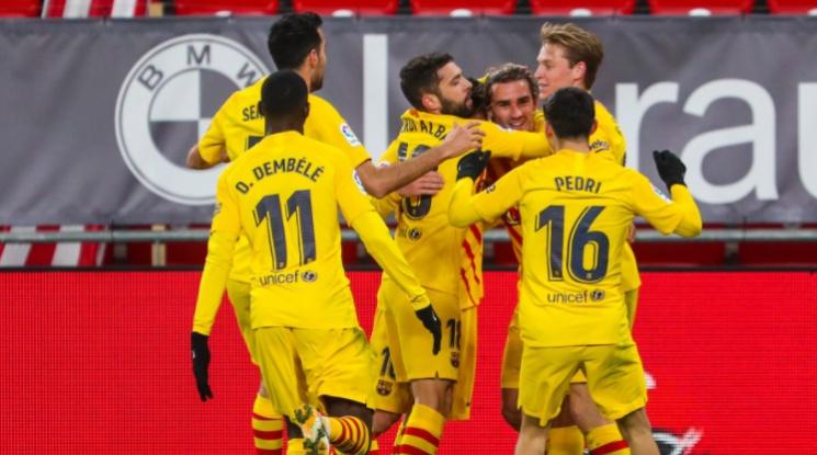 Барса взе много важна победа като гост на Атлетик Билбао, Меси вкара два гола (видео)