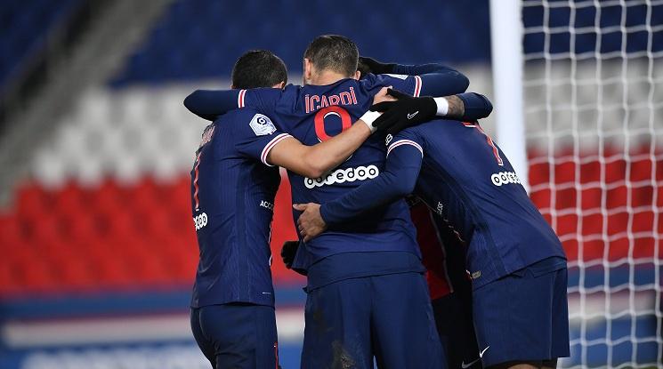 ПСЖ вкара четири безответни гола на Монпелие (видео)