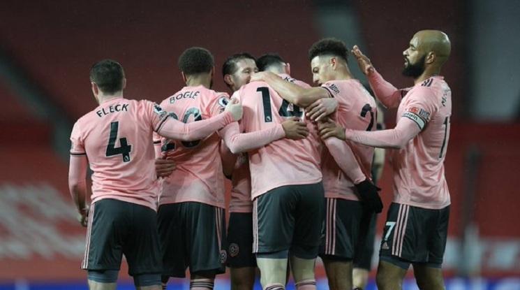 Шефилд Юнайтед нанесе тежък удар по шампионските амбиции на Ман Юнайтед (видео)