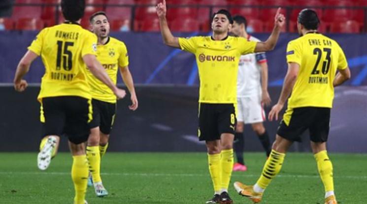 Дортмунд разпиля Севиля, с единия крак е на четвъртфинал (видео)
