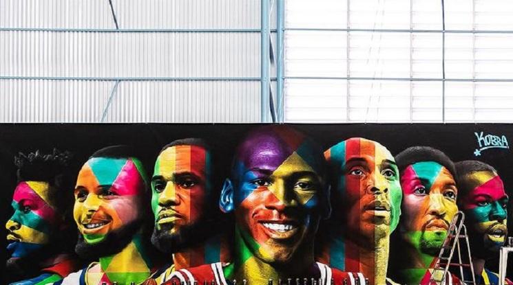 Кобрата изрисува стената на баскетболната зала на Неймар