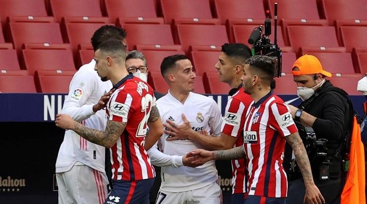 Скандал между Суарес и Лукас Васкес в дербито на Мадрид