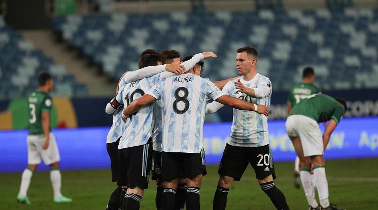 Аржентина съсипа Боливия (видео)
