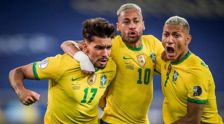 Бразилия надви Чили с човек по-малко и ще играе полуфинал на Копа Америка (видео)