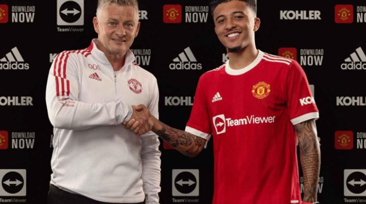 Дългоочакваният трансфер вече е факт: Ман Юнайтед представи Санчо