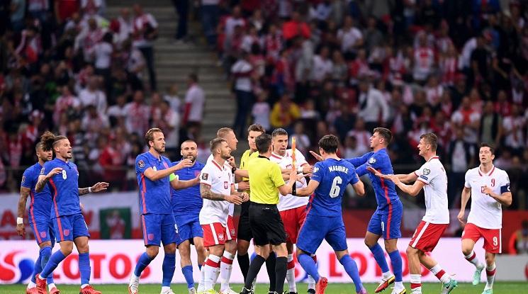Гол в последните минути лиши Англия от победата в Полша (видео)